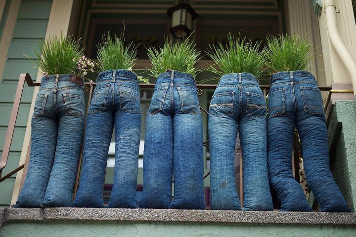 Wwwmyjuleicade Upcycle Anleitung Jeans Bepflanzen
